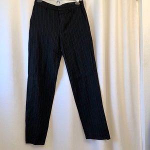 Banana Republic Men's Wool pinstriped dress pants